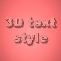 3D Text Style