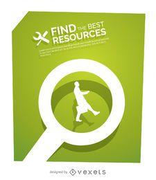 Find best resources business concept