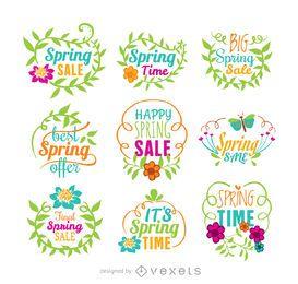 Spring sale vector set