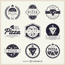 Collection of pizza themed logos