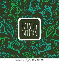 Floral swirl seamless pattern