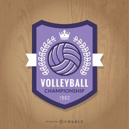 Purple volleyball championship badge