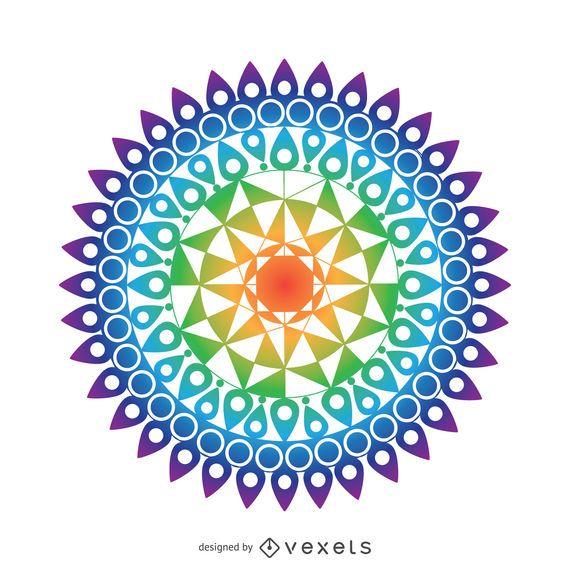 Colorful mandala drawing