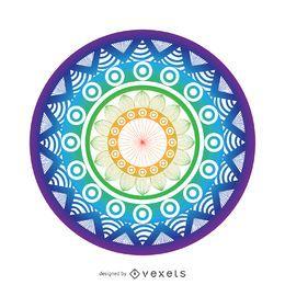 Bright mandala drawing