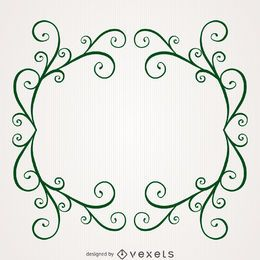 Nature swirl frame