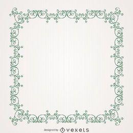 Antique swirl frame