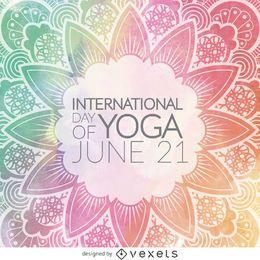 International Day of Yoga mandala