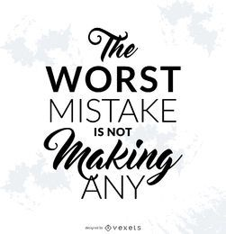 Motivational mistake poster