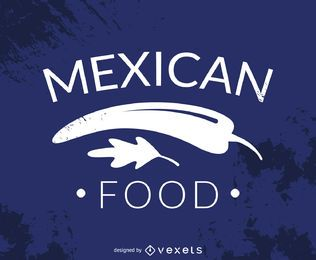 Hispter mexican food logo