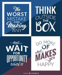 Hipster motivational poster set