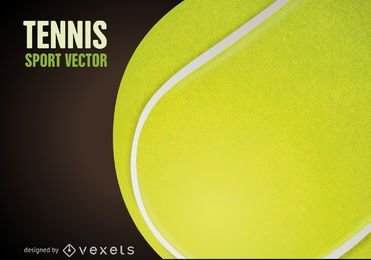 Tennis ball drawing poster