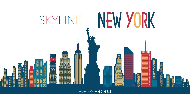 new york skyline silhouette vector download