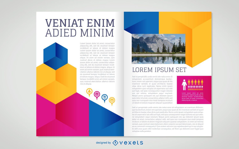 Flat brochure template - Vector download