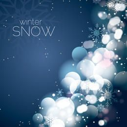 Festive Background with Glares & Snow