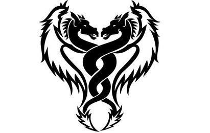 Dragón Mellizos Vector