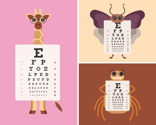 Eye chart animals