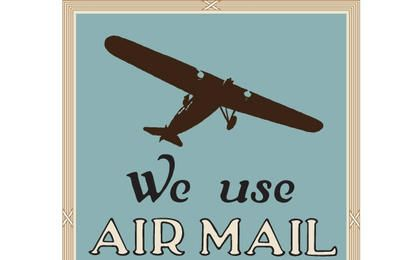 We Use Air Mail Vector
