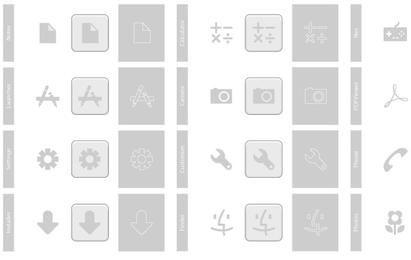 Conjunto de ícones do telefone