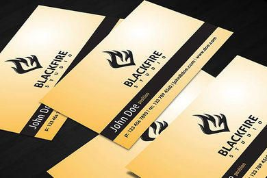Black Fire Business Card
