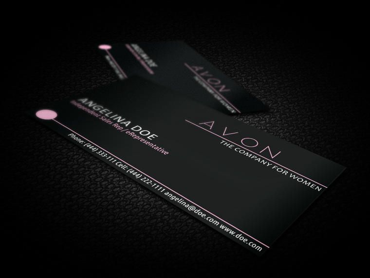 Black avon business card vector download black avon business card colourmoves