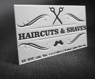 Vintage Barber Shop Business Card