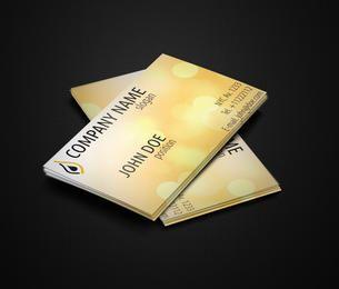 Cartão amarelo brilhante