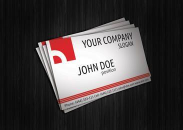 Cartão corporativo vermelho abstrato