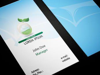 Cartão de visita saudável ecológico do alimento