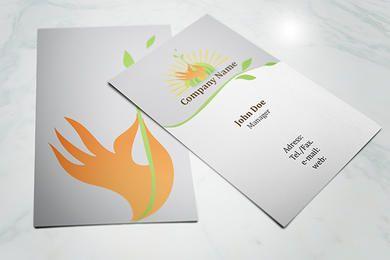 Cartão dianteiro & traseiro da ecologia
