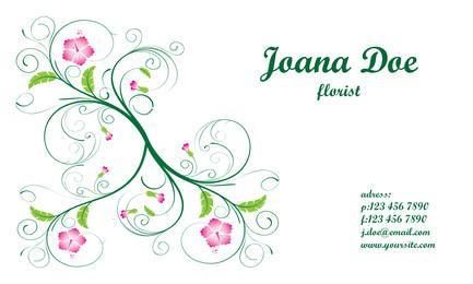 Cartao de visita floral elegante