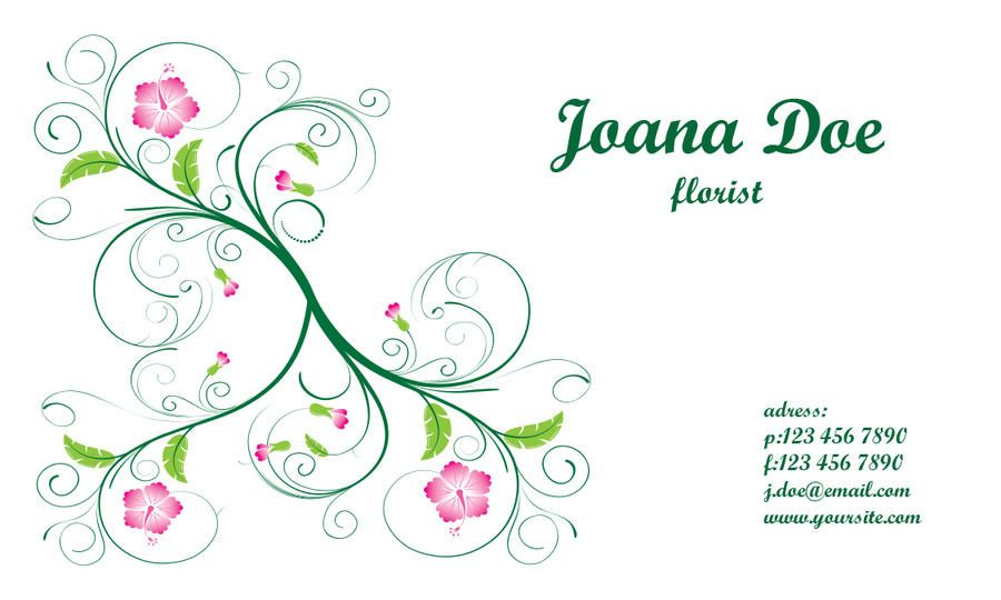 Elegant Floral Business Card Template - Vector download
