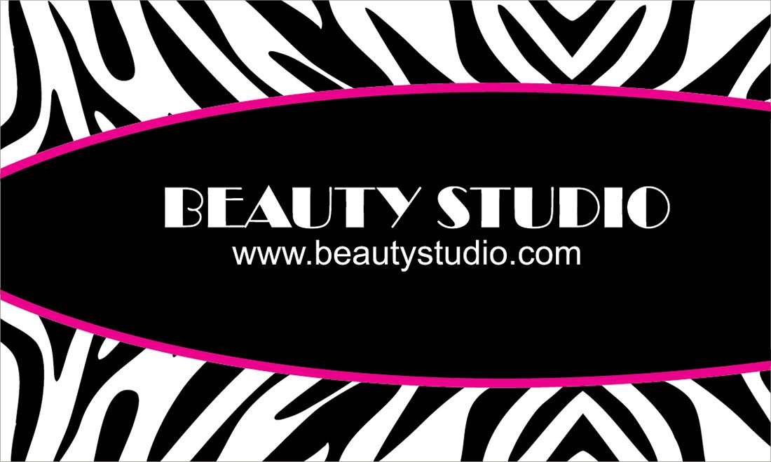Black & White Zebra Print Business Card - Vector download