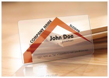 Plantilla de tarjeta de visita - agente de bienes raíces translúcido
