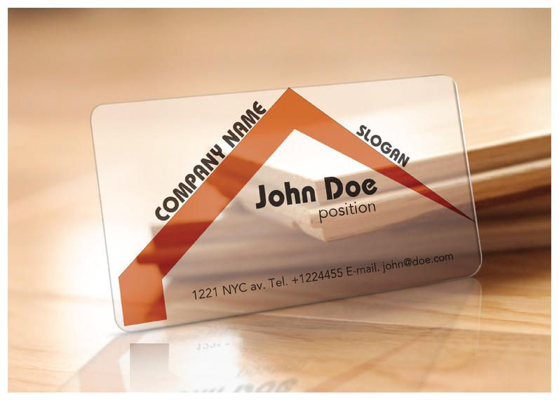 Translucent realtor business card template vector download translucent realtor business card template wajeb