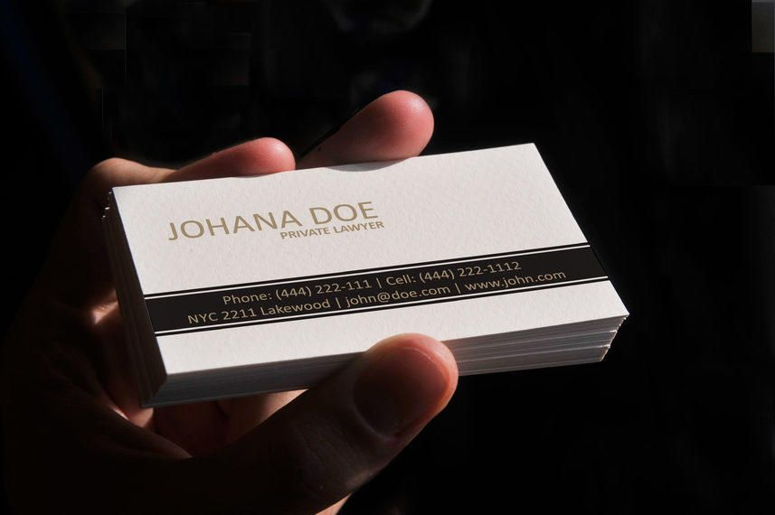 Simple Lawyer Business Card Template Vector Download - Lawyer business card templates