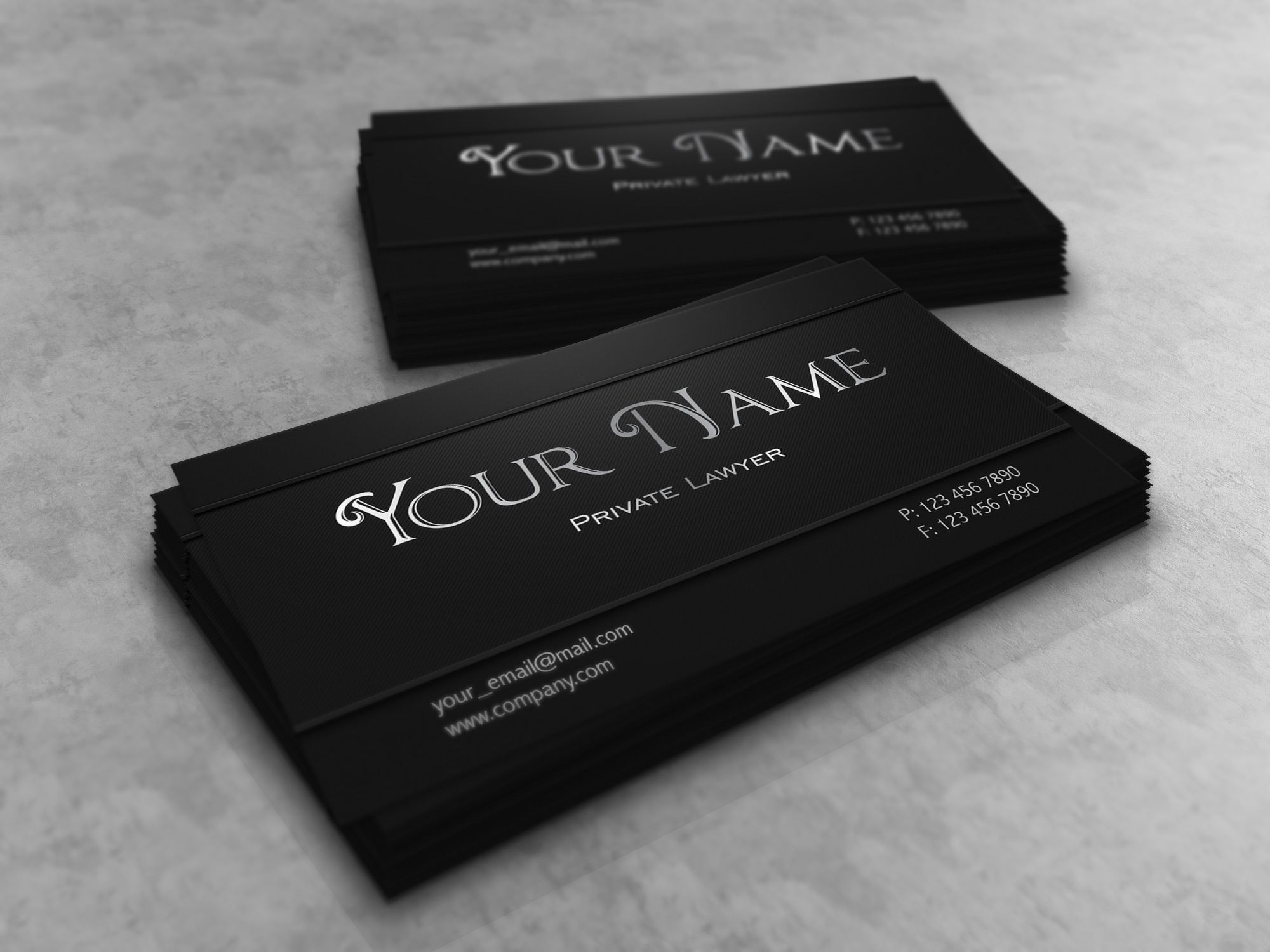 dark creative lawyer business card vector