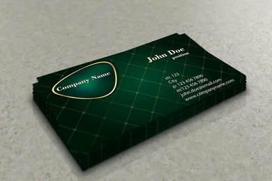 Diamond Grid Stylish Business Card