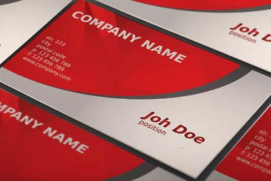 Red Curves Beautiful Business Card