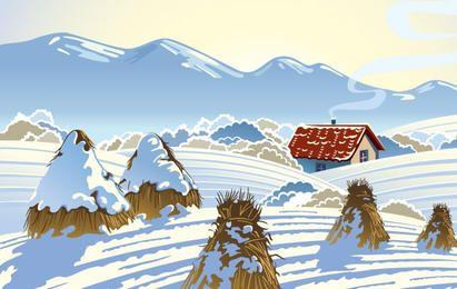Ilustración del día de nieve