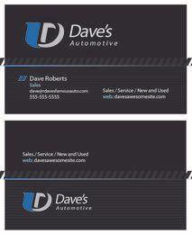 Automotive Dark Business Card