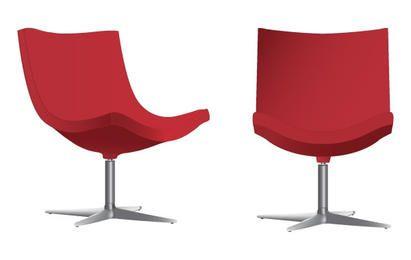 Vector elegante de sillas rojas