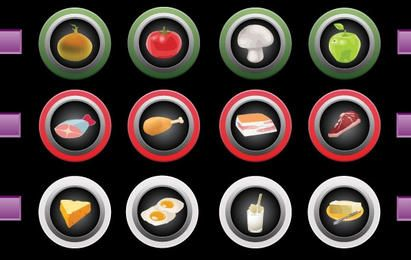 Ícones da tela de toque