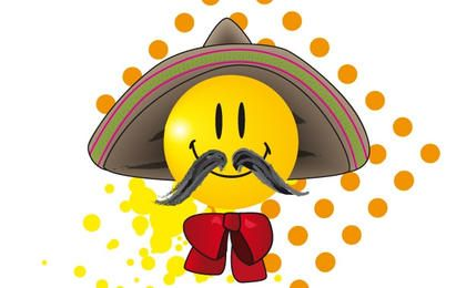 Smiley de bigote mexicano