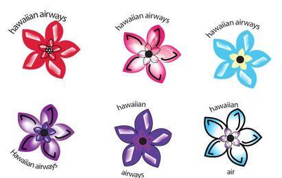 Conjunto de flores havaianas