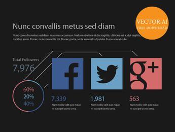 Simplistic Social Media Statistic Infographic