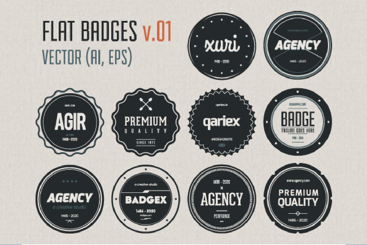 Vintage Circular Label Pack Template - Vector download