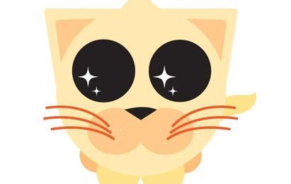 Cute Eyes Orange Kitty