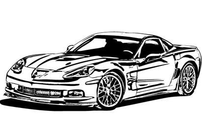 Corvette Car Vector