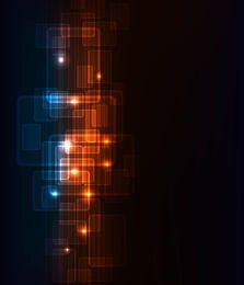 Dynamic Futuristic Fluorescent Squares Background