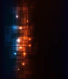 Dynamischer futuristischer Leuchtstoffquadrathintergrund